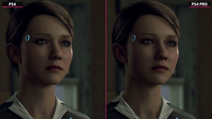 Detroit: Become Human porównanie gry, PS4 vs PS4 Pro