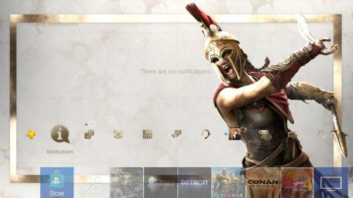 Dynamiczny motyw dla PS4 z Assassin's Creed Odyssey