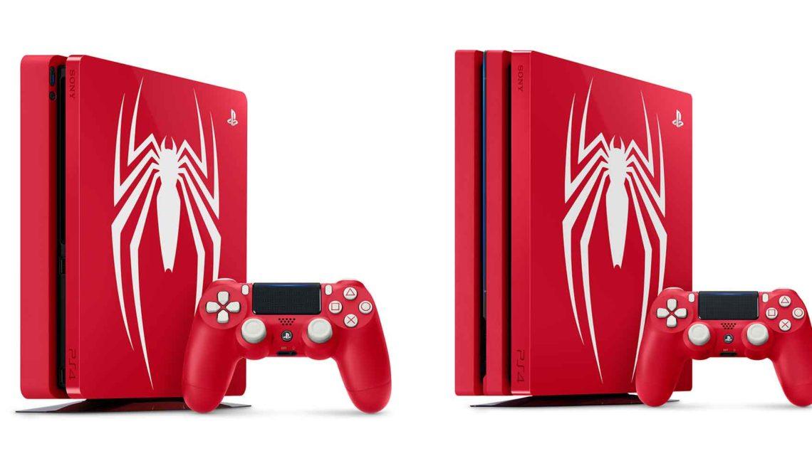 Czerwona konsola PS4 Slim i PS4 Pro z pająkiem na blacie trafi do sklepów